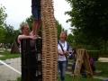 Riesenturm im Familienteam gebaut