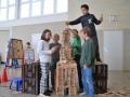 Großer Eiffelturm Teamwork